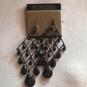 Gunmetal chandelier earrings